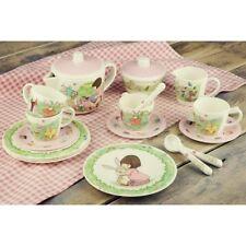 Belle & Boo Tea shop Set Picnic 19 Piece Melamine Blue Boy/Girl In House giftbox