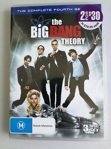 The Big Bang Theory Season Four DVD 3 disc set Comedy M Region 4