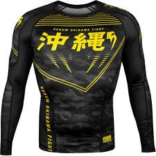 Venum Okinawa 2.0 Long Sleeve Compression Rashguard - Black/Yellow