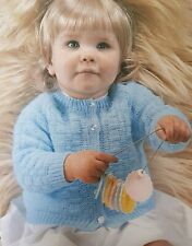 """2028 BABIES 3PLY LOVELY LACY LAYETTE 14-16/& 18/"""" 36-46cm VINTAGE KNITTING PATTERN"""