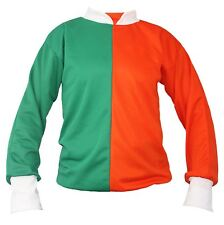 Orange & Green Jockey Shirt Irish St. Patricks Day Fancy Dress Racing Jersey