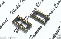 2pcs - 14-Pin IC Socket DIP Gold-Plated Copper