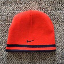 2ae211f05395c Youth Boys Size 8 20 Nike Stretch Knit Winter Beanie Reversible Hat Blue  Orange