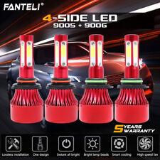 9005+9006 6000K 672000LM Combo 4-Side CREE LED Headlight Kits High Low Lamp Bulb