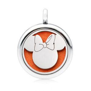 Fashion 25MM Alloy Essential Oil Aroma Diffuser Locket Pendant Necklace chain