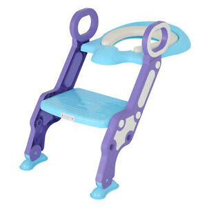 Toddler training for children's toilet seat ladder is easy to use and fold