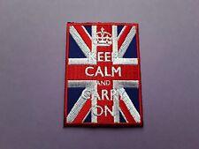 NOVELTY FANCY DRESS CARTOON SEW ON & IRON ON PATCH:- KEEP CALM UNION JACK FLAG