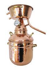 Distillatore in rame per gli oli essenziali - 20 LITRI ancora con termometro-Alquitara