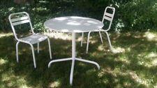 Fauteuil chaise et table salon de Jardin Tolix vintage années 50 60 Design