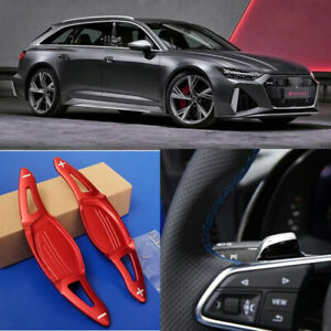 Aluminum Car DSG Steering Wheel Shift Paddle Shifter Extension For Audi RS6 2019