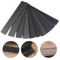 10 x Professional Acrylic Gel Natural Nail File 100 / 180 Black Straight Buffer