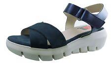 Shoes Woman / Womens Shoes Sandals Platforms Fluchos Blue Leather Ref.F0839