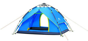 3-4 Person 3 Season Outdoor Hydraulic Automatic Instant Waterproof Camping Tent