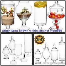 Glass Jars Vintage Large Lid Candy Buffet Wedding Centerpiece Tall Apothecary
