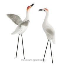 Sandhill Cranes, 2 Piece Set for Miniature Garden, Fairy Garden