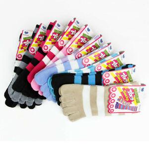 6 Pairs Cotton Ladies Women Five Fingers Toe Ankle Socks One Size Regular Socks