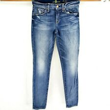 7 For All Mankind Womens Sz 27 The Slim Cigarette Skinny Stretch Ankle Jeans