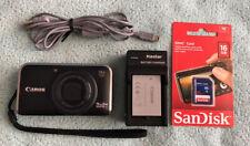 Canon PowerShot SX210 IS 14.1MP Digital Camera - Black~Nr Mint~16 GB SD-Bundle~~