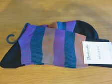 Pantherella Stirling Cotton Socks (one pair) - Charcoal - Size L (UK 10-12) NEW