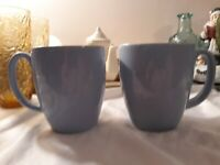 2 Corelle Light Powder Blue Coffee Mug Cups