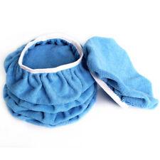"5PCS 5-6"" 150mm Blue Microfibre Buffing Pads Car Polish Wax Buffer Bonnets Cover"