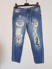 DESIRES Damen Boyfriend  Jeans  Gr. W29 L32  blau Destroyed Used Look