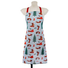 Dachshund Through The Snow Christmas Poly Cotton Apron
