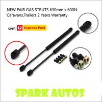 NEW PAIR GAS STRUTS 630mm x 600N Caravans,Trailers 2 Years Warranty