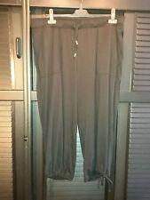 Damen Slinky-Ballon-Hose mit 2 Taschen, schwarz, 7/8 Länge Größe 44, Gummibund