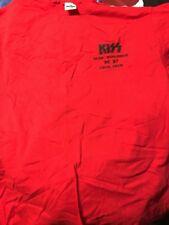 Vintage Kiss Alive Worldwide Tour 1996 1997 Local Crew T-Shirt Worn XL Red NOS