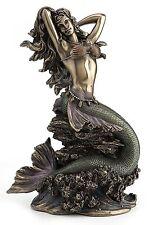 Beautiful Mermaid Venus Sitting on Rock Ocean Goddess Figurine Statue  MUST SEE!