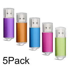 NEW 5 Pack/Lot USB Flash Drive 1GB-32GB Memory Sticks Storage Blank Media U Disk