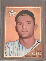 1962 TOPPS #461 KEN HUBBS RC ROOKIE CARD EX-MT+