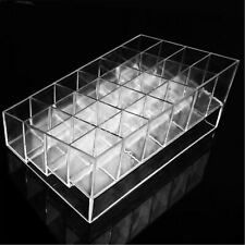 Clear 24 Lipstick Display Holder Acrylic Cosmetic Organizer Makeup Storage Case