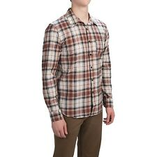 Gramicci - Men's XXL - NWT - Brown Plaid Madras Cotton L/S Button-Down Shirt