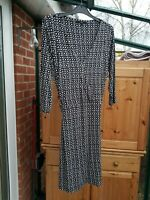 Fab Next Black & White Shift Dress, 3/4 Length Sleeves, Size 16, VGC