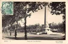 Reus Spain Paseo de Los Maritres Real Photo Antique Postcard J55660