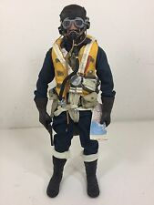 1/6 BBI BRITISH RAF SPITFIRE FIGHTER PILOT+PARACHUTE+PISTOL WW2 DRAGON DID 21