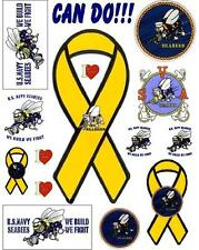 Navy Seabees CAN DO Scrapbooking Craft Sticker Sheet Set #1