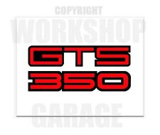 HOLDEN GTS 350 RED TEXT  - Stickers