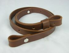 "075-01_LEATHER_EUROPEAN STYLE RIFLE GUN SLING_3/4"" WIDE_adj. 30"" to 42"""