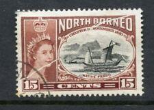 NORTH BORNEO ERROR 1956 PRAHU...PRE PRINTING PAPER FLAW