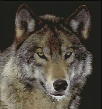 "Wolf 3 Complete Counted Cross Stitch Kit 10.5"" x 10"""