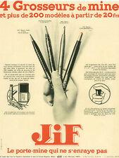 Publicité ancienne porte-mine Jif 4 mines 1932 issue de magazine
