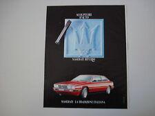 advertising Pubblicità 1983 MASERATI BITURBO