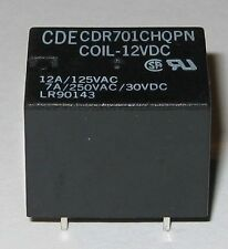 CDE 12V Coil 12 Amp Relay Rated at 125 VAC - Small / Light 12 V Relay