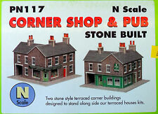 New Metcalfe Stone Corner Shop and Pub PN117 N Gauge