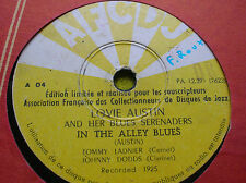 78 rpm- LOVIE AUSTIN and her Blues Serenaders -In the Alley blues -  AFCDJ A 04
