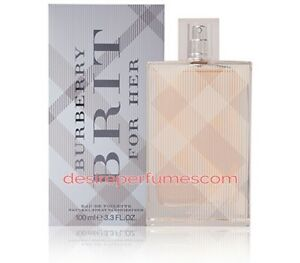 BURBERRY BRIT FOR HER 100ML EDT WOMEN NEW SEALED BOX.