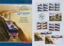 Rumänien 2019 Grampet Group,Züge,Lokomotiven Mi.7533-36,Zf.,KB,Block 787,FDC